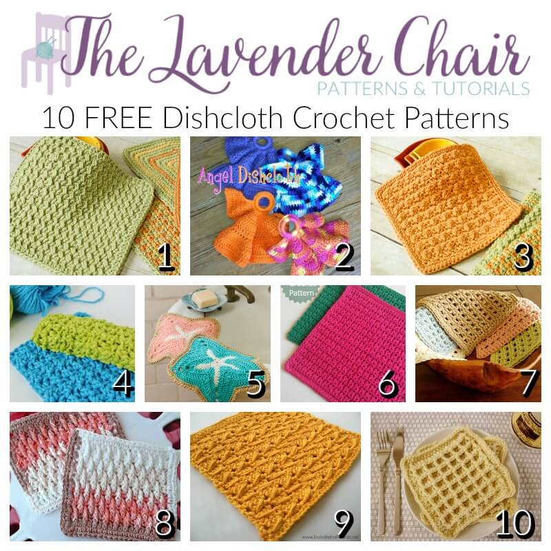 10 Free Dishcloth Crochet Patterns The Lavender Chair