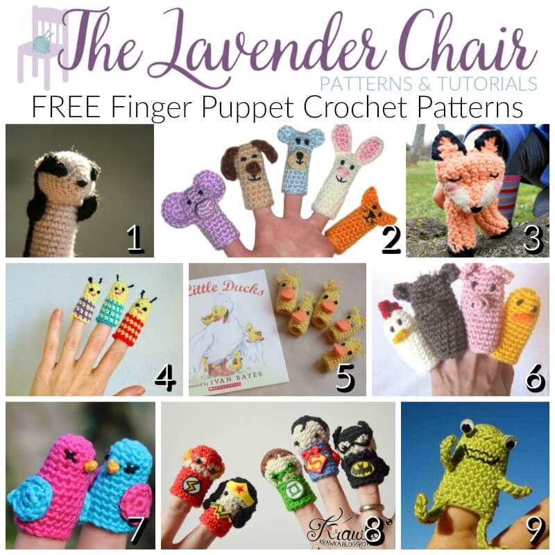 FREE Finger Puppet Crochet Patterns - The Lavender Chair