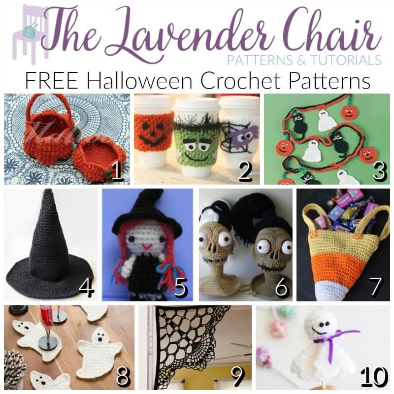 FREE Halloween Crochet Patterns - The Lavender Chair