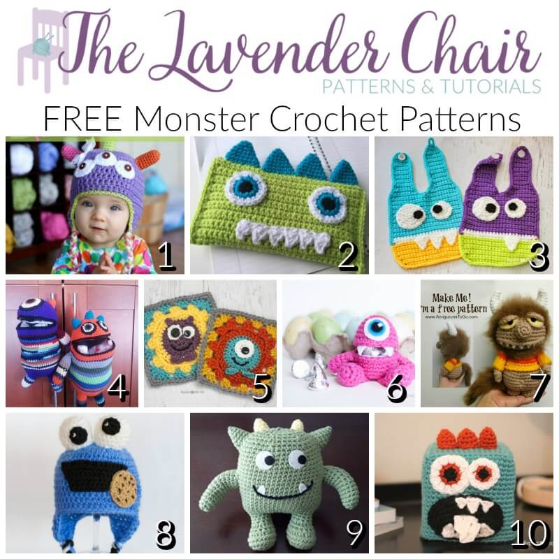 Free Monster Crochet Patterns The Lavender Chair