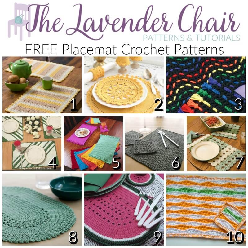 Free Placemat Crochet Patterns The Lavender Chair