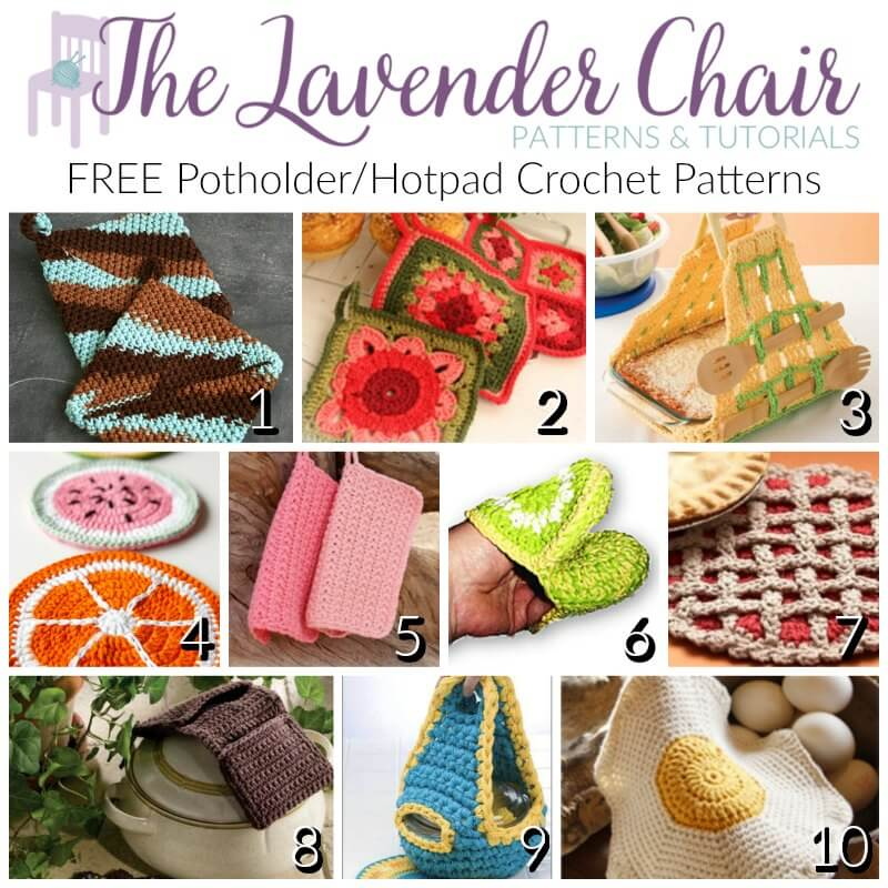 Free Potholder And Hotpad Crochet Patterns The Lavender Chair