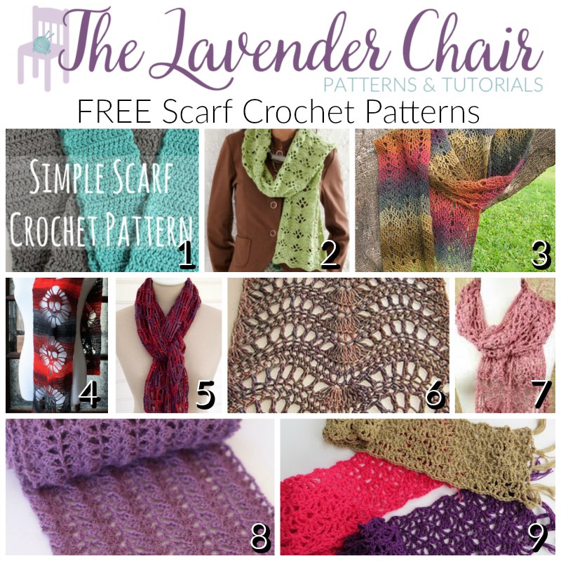 9 Gorgeous Free Scarf Crochet Patterns The Lavender Chair