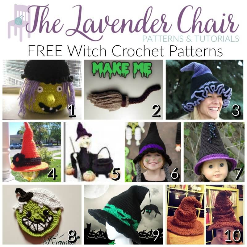 FREE Witch Crochet Patterns - The Lavender Chair 05ea3b32692