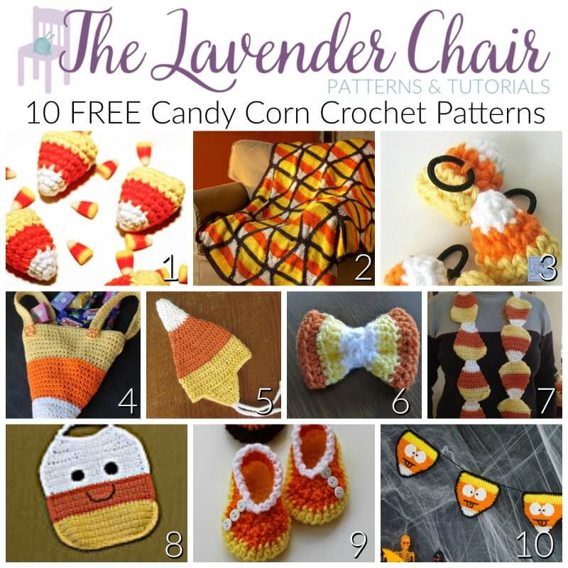 10 Free Candy Corn Crochet Patterns The Lavender Chair
