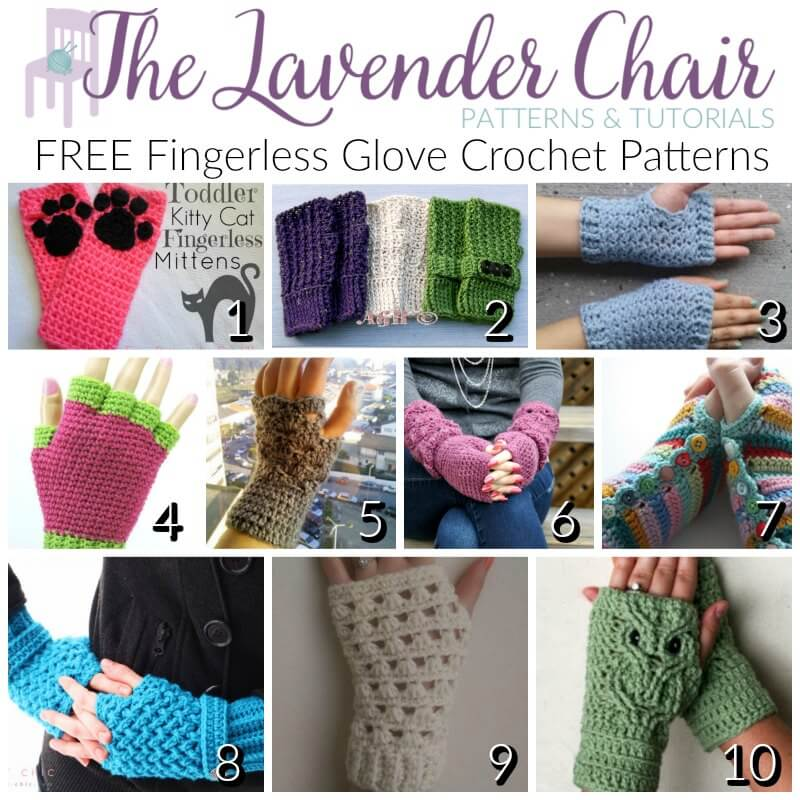Free Fingerless Glove Crochet Patterns The Lavender Chair