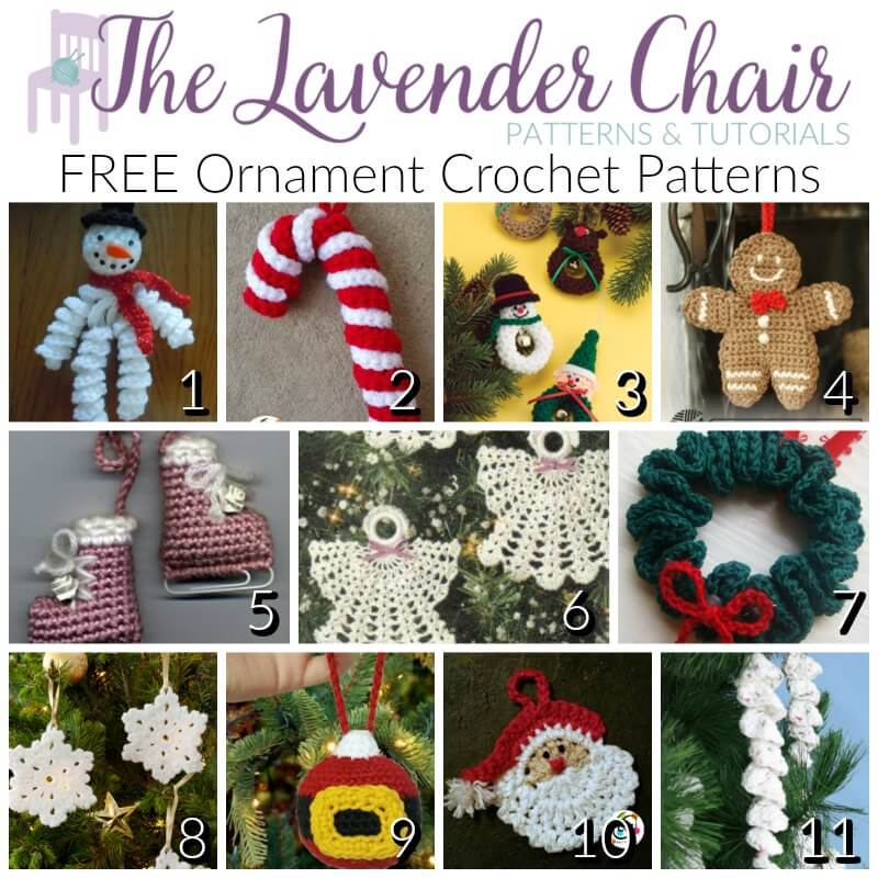 FREE Ornament Crochet Patterns - The Lavender Chair