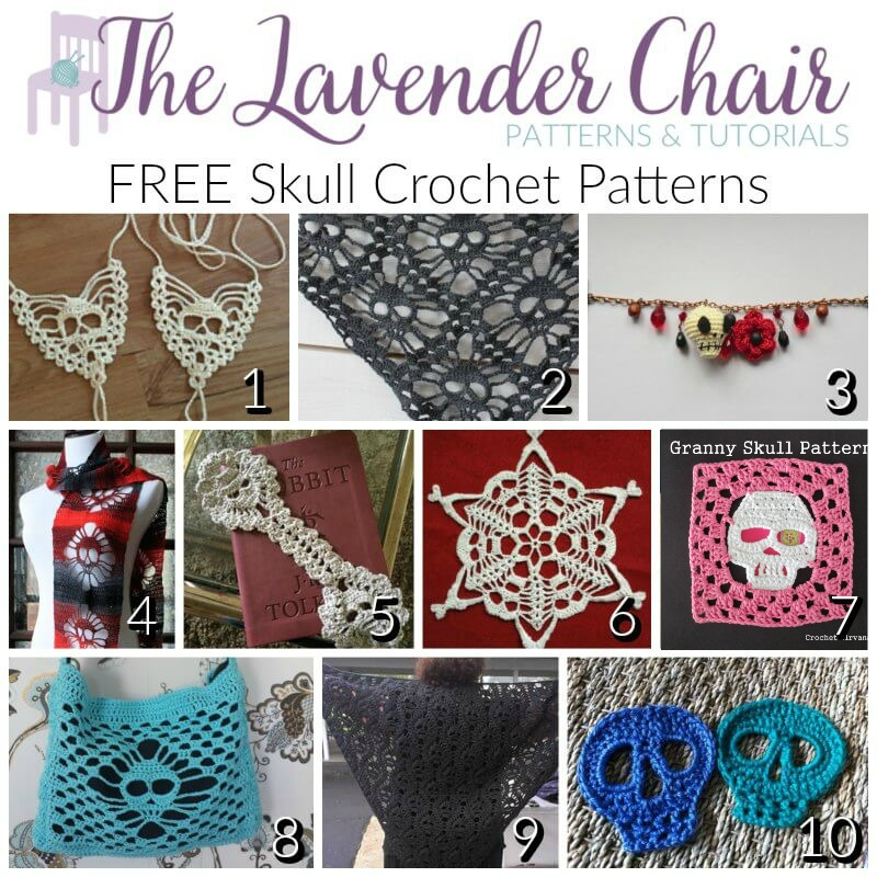 Free Skull Crochet Patterns The Lavender Chair