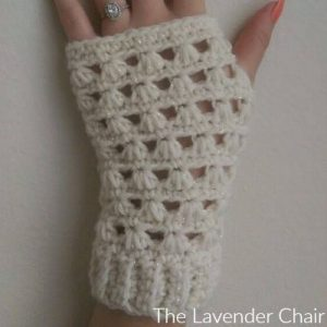Lazy Daisy Fingerless Gloves Crochet Pattern