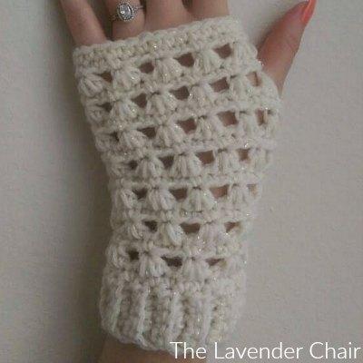 Lazy Daisy Fingerless Gloves Crochet Pattern