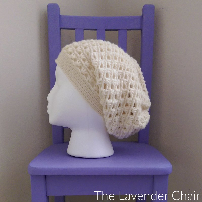 Lazy Daisy Slouchy Beanie Crochet Pattern The Lavender Chair