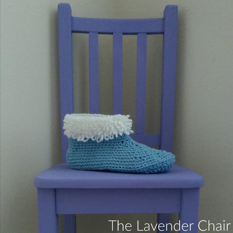 Loop Stitch Slipper Crochet Pattern