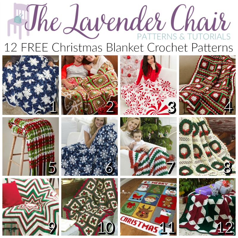 Christmas Crochet Blanket Free Pattern.Free Christmas Blanket Crochet Patterns The Lavender Chair