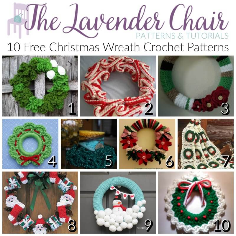 Free Christmas Wreath Crochet Patterns The Lavender Chair