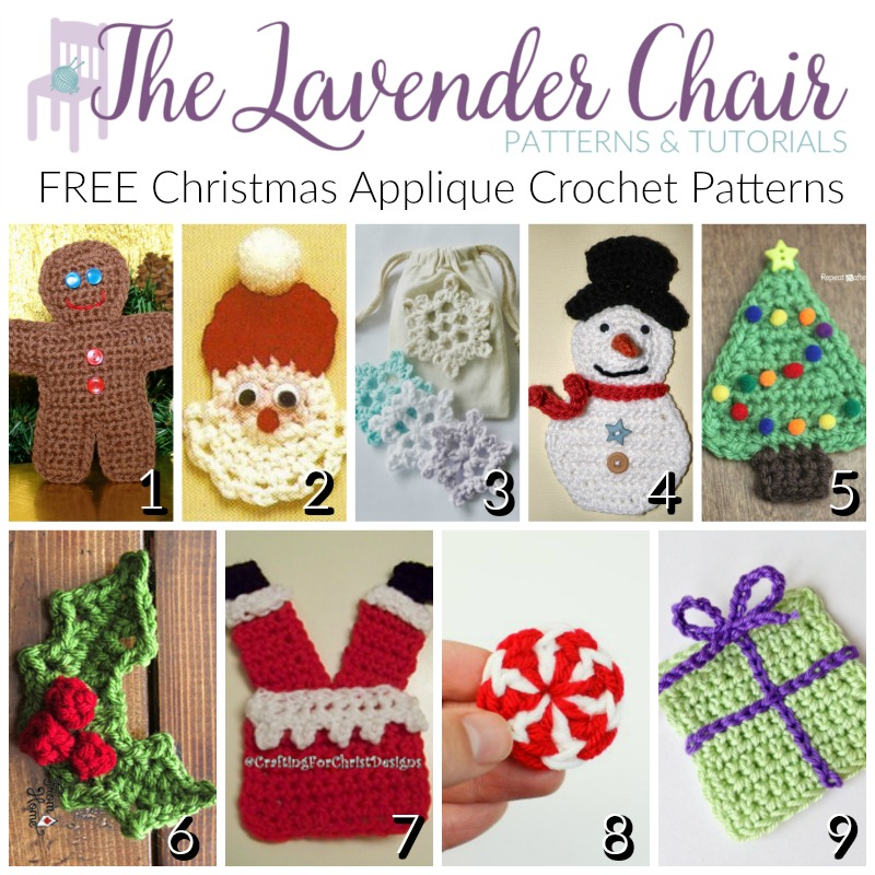 Free Christmas Applique Crochet Patterns The Lavender Chair