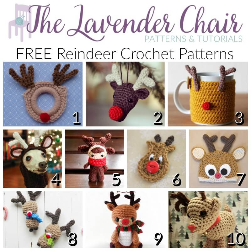 FREE Reindeer Crochet Patterns - The Lavender Chair