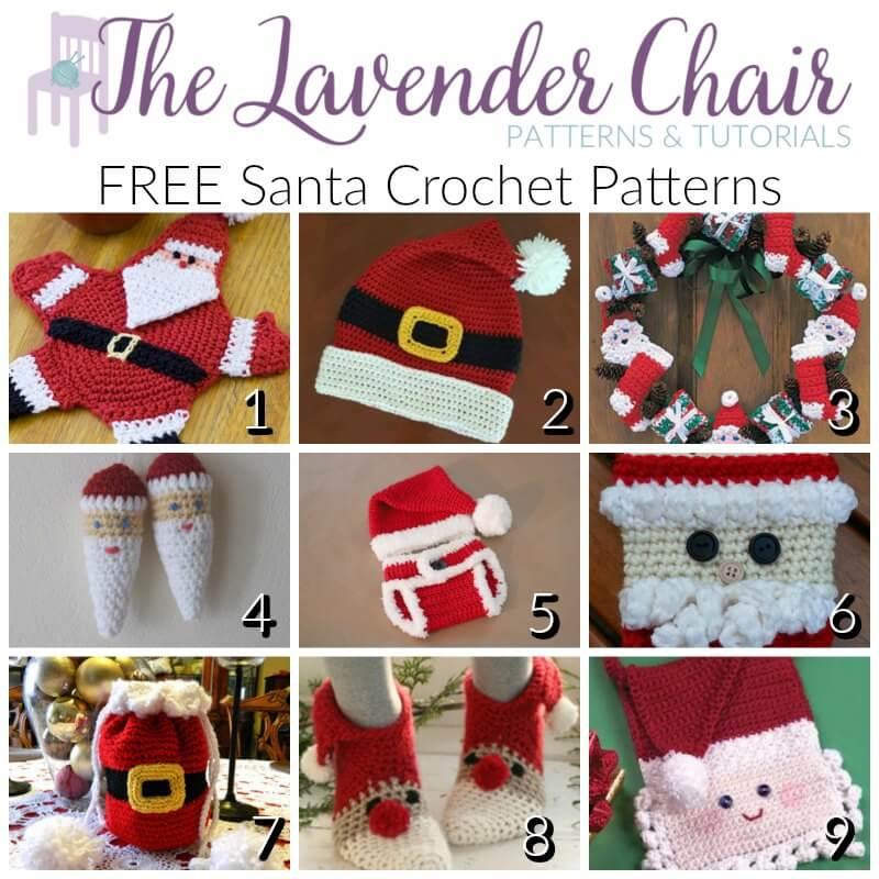 Free Santa Crochet Patterns The Lavender Chair