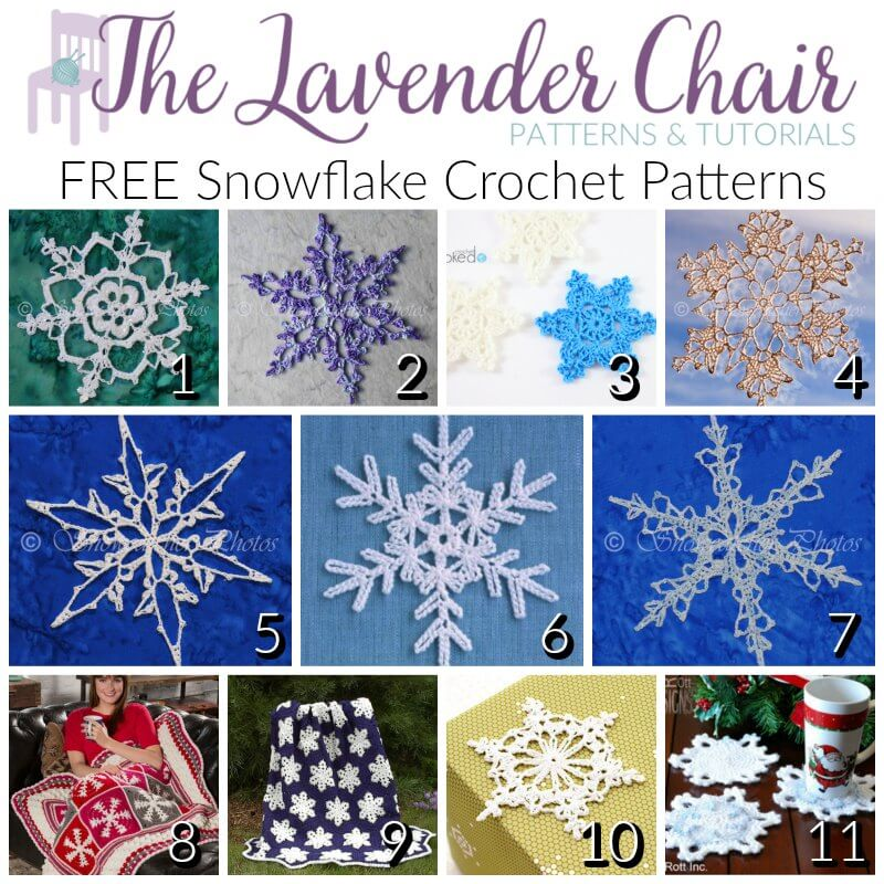 Dainty And Free Snowflake Crochet Patterns The Lavender Chair