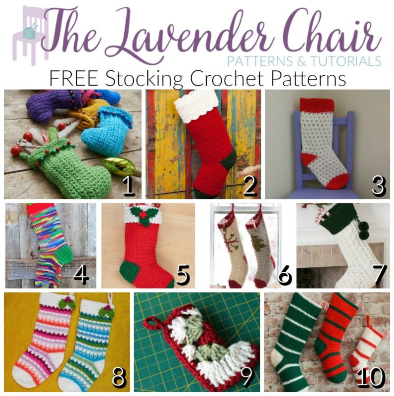 Free Stocking Crochet Patterns The Lavender Chair
