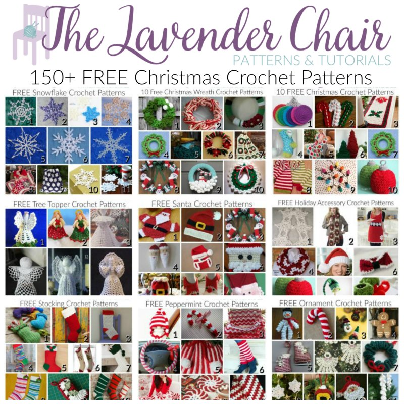 Christmas Crochet Blanket Free Pattern.150 Free Christmas Crochet Patterns The Lavender Chair