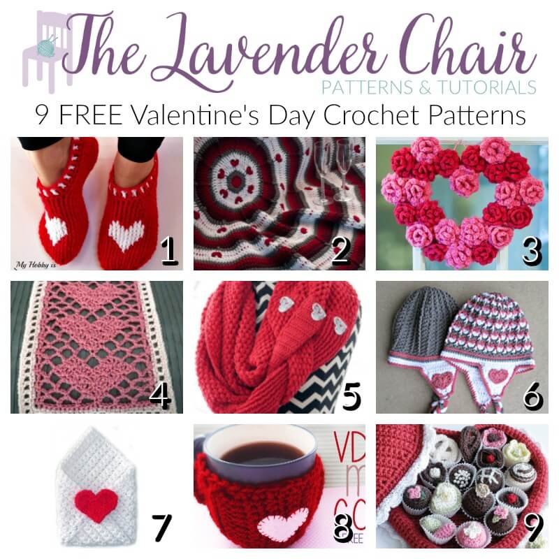Free Valentines Day Crochet Patterns The Lavender Chair