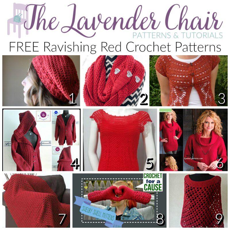 Gorgeous and FREE Ravishing Red Crochet Patterns