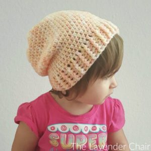 Simply Slouchy Beanie (Toddler – Child) Crochet Pattern