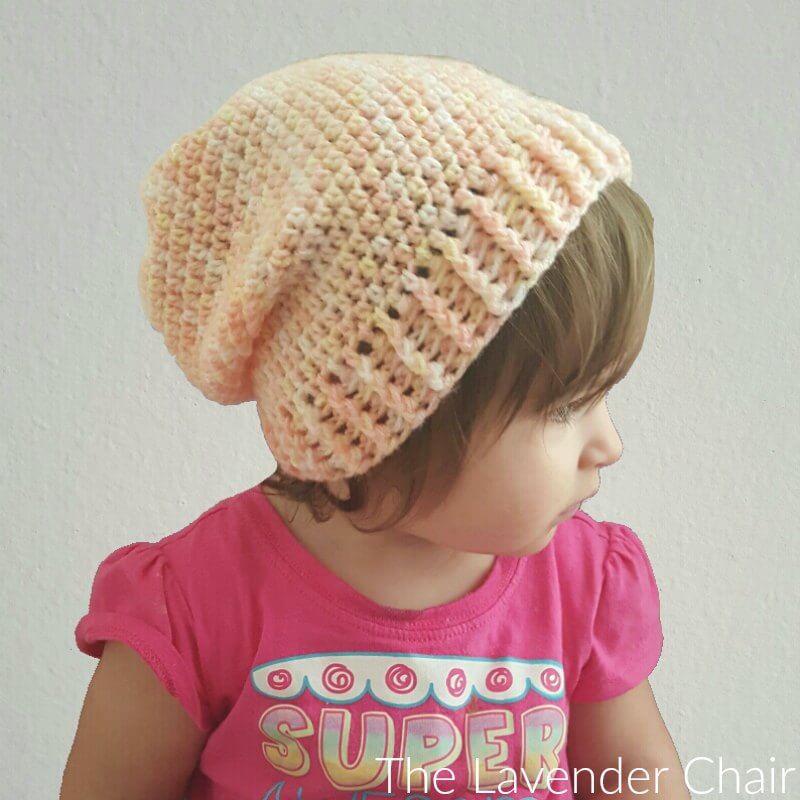 be7f48e735a Simply Slouchy Beanie (Toddler - Child) Crochet Pattern - The Lavender Chair