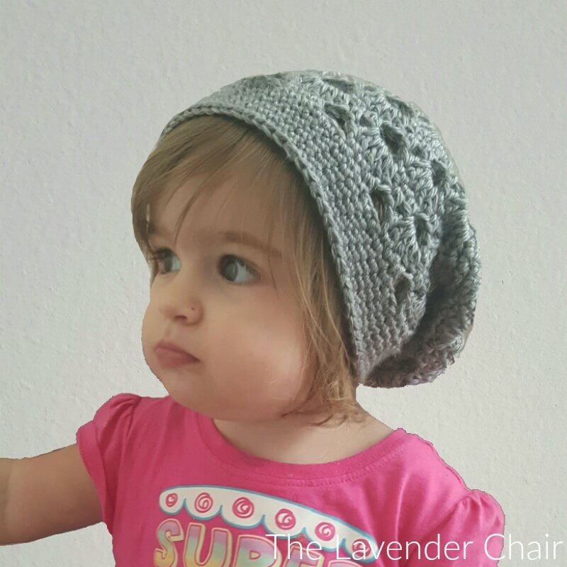 acec358c6ca Stacked Shells Slouchy Beanie (Toddler - Child) Crochet Pattern - The  Lavender Chair