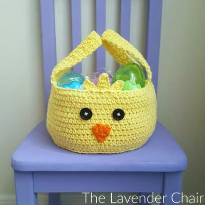 Chickadee Easter Basket Crochet Pattern