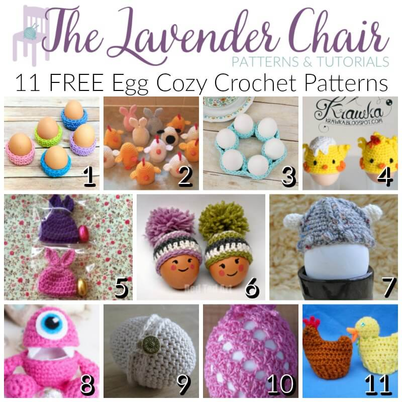 FREE Egg Cozy Crochet Patterns - The Lavender Chair