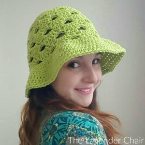 Stacked Shells Floppy Sun Hat Crochet Pattern