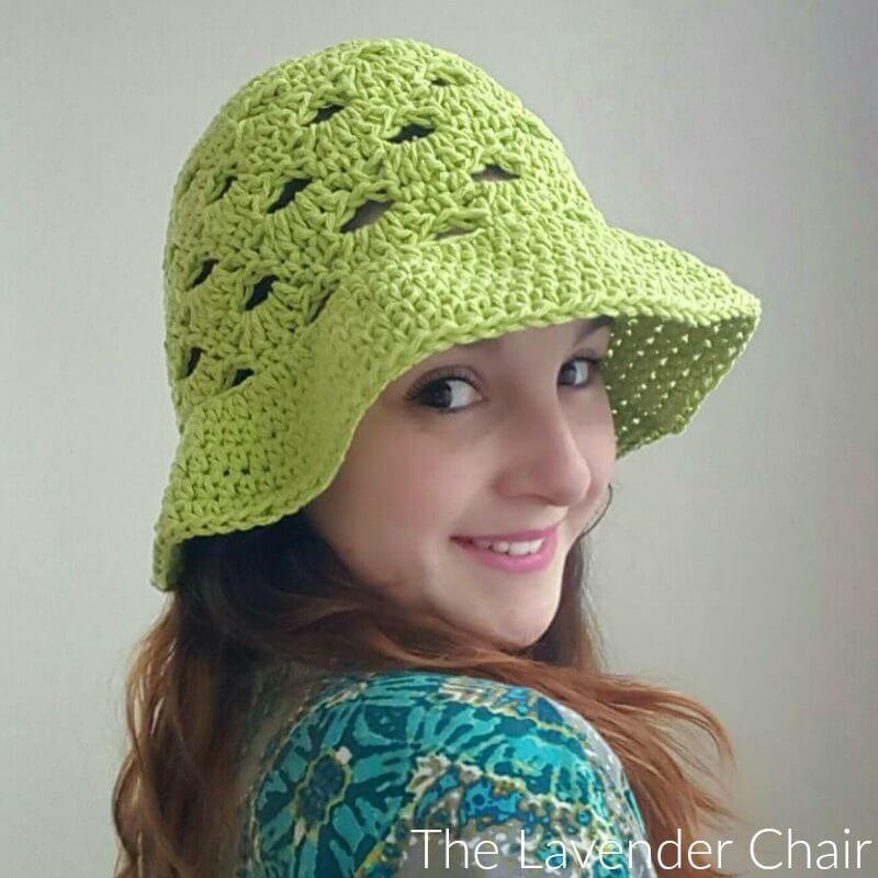 Stacked Shells Floppy Sun Hat Crochet Pattern
