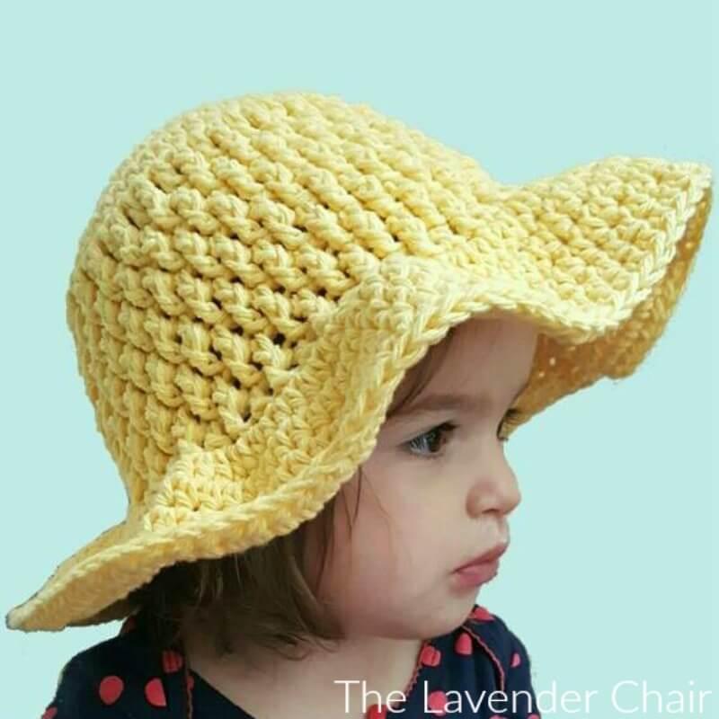 Brickwork Summer Sun Hat (Infant – Child) Crochet Pattern