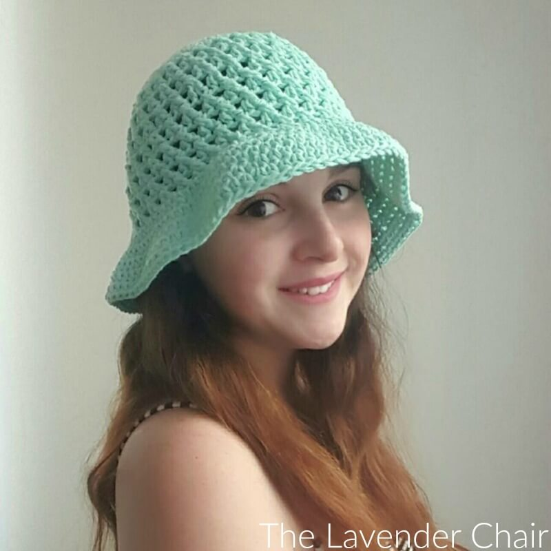 Crossed Double Crochet Sun Hat Adult Crochet Pattern The