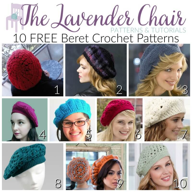 10 Free Beret Crochet Patterns The Lavender Chair