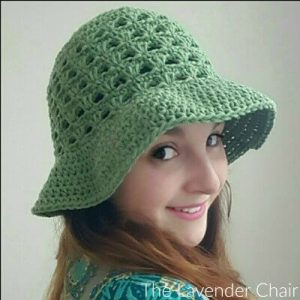 Lazy Daisy Floppy Sun Hat (Adult) Crochet Pattern