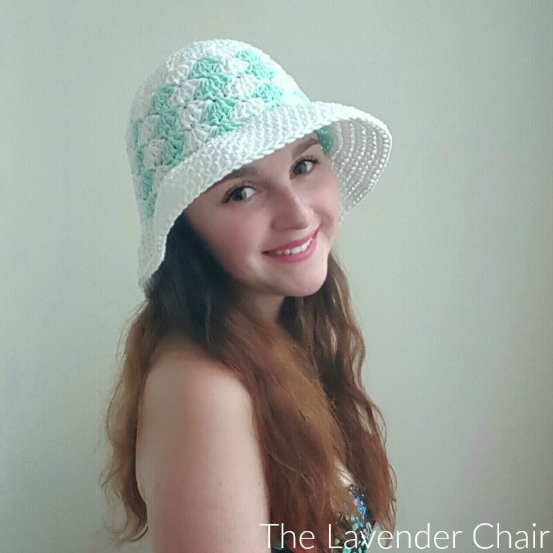 Simple Shells Floppy Sun Hat Crochet Pattern The Lavender Chair