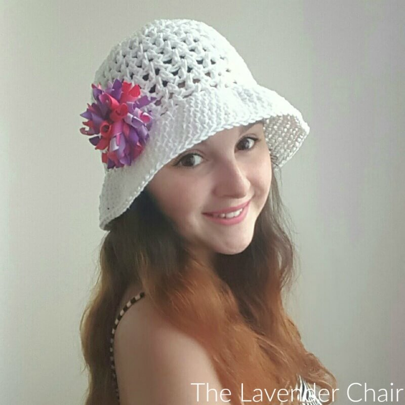 Valerie\'s Summer Sun Hat (Adult) Crochet Pattern - The Lavender Chair