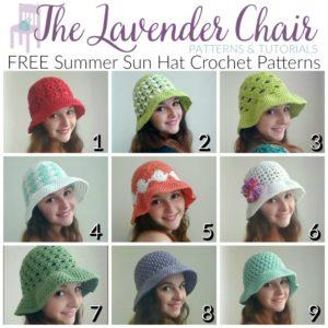 Free Summer Sun Hat Crochet Patterns
