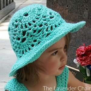 Lacy Shells Summer Sun Hat Crochet Pattern