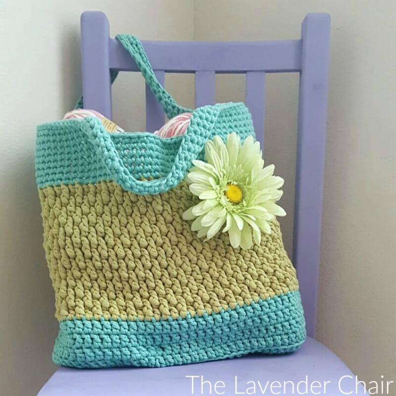Brickwork Beach Bag Crochet Pattern The Lavender Chair