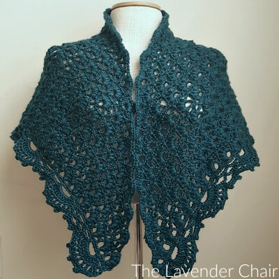 Daisy Fields Shawl Crochet Pattern - The Lavender Chair