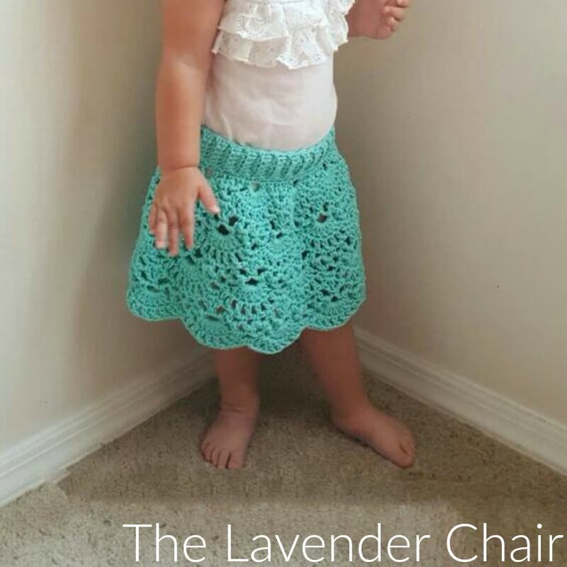 Lacy Shells Skirt Infant Child Crochet Pattern The Lavender Chair