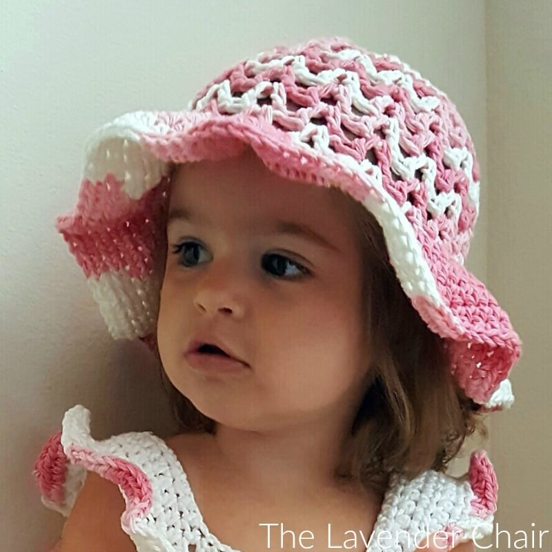 423a44dbd Valeries Sun Hat (Infant - Child) Crochet Pattern - The Lavender Chair