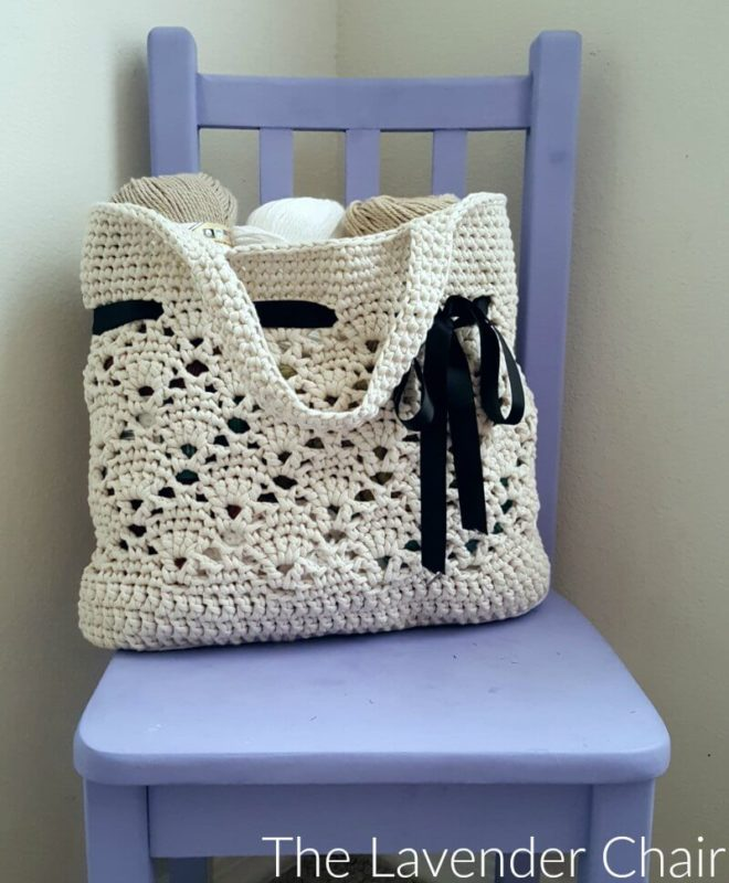 Vintage Market Tote Crochet Pattern The Lavender Chair
