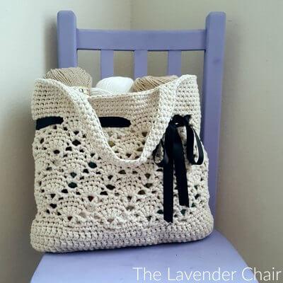 Vintage Market Tote Crochet Pattern The Lavender Chair