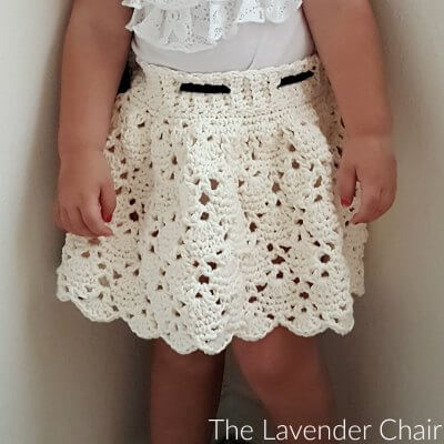 Vintage Skirt Infant Child Crochet Pattern The Lavender Chair