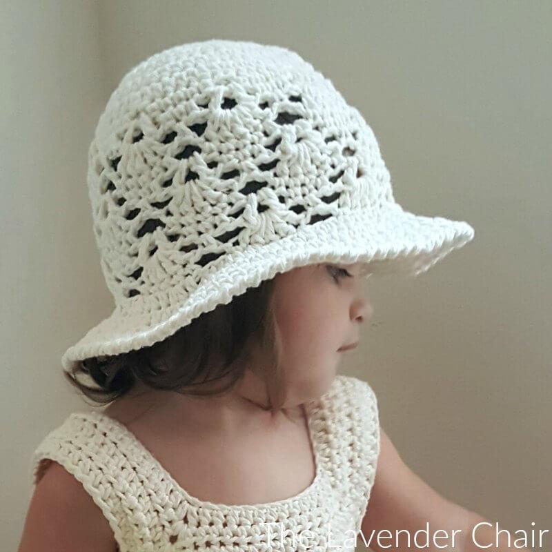 Vintage Sun Hat Infant Child Crochet Pattern The Lavender Chair