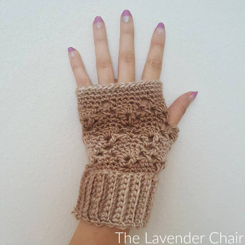 Vintage Fingerless Gloves Crochet Pattern The Lavender Chair